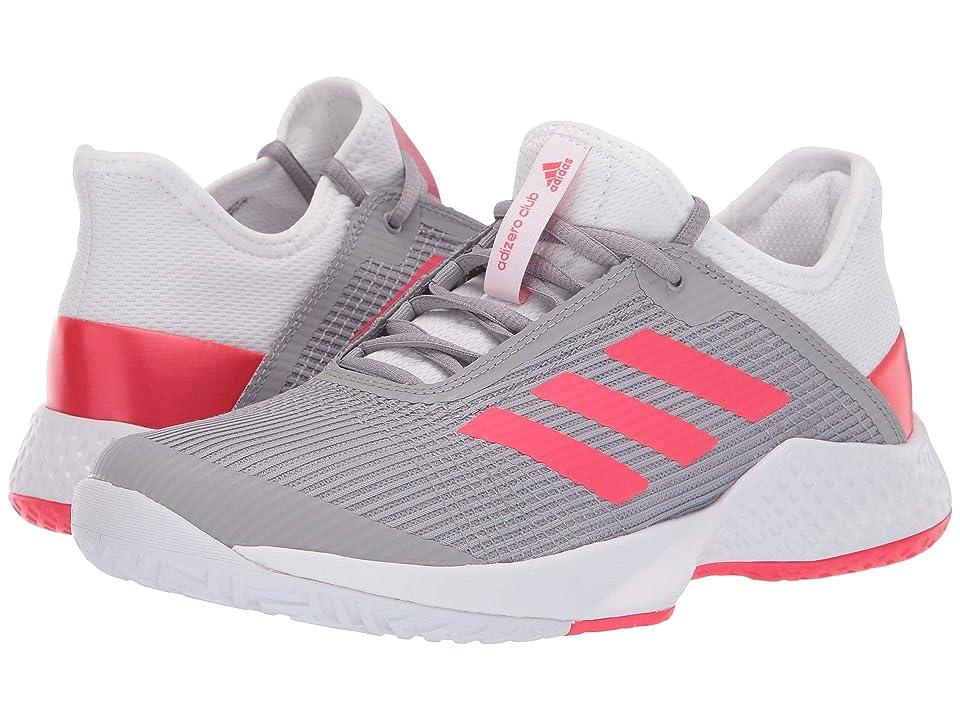 adidas Adizero Club 2 (Footwear White/Shock Red/Light Granite) Women