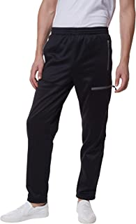 Little Donkey Andy Men's Open Bottom Fleece Sweatpants with Pockets, Thermal Athletic Pants for Sports or Lounge, Moisture-Wicking and Stretchy