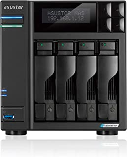Asustor - ASUSTOR Lockerstor 4, Intel Celeron J4125 Quad-Core Gemini Lake -Refresh, 4 GB DDR4, 2,5 GbE x2, Ranuras M.2 (22...