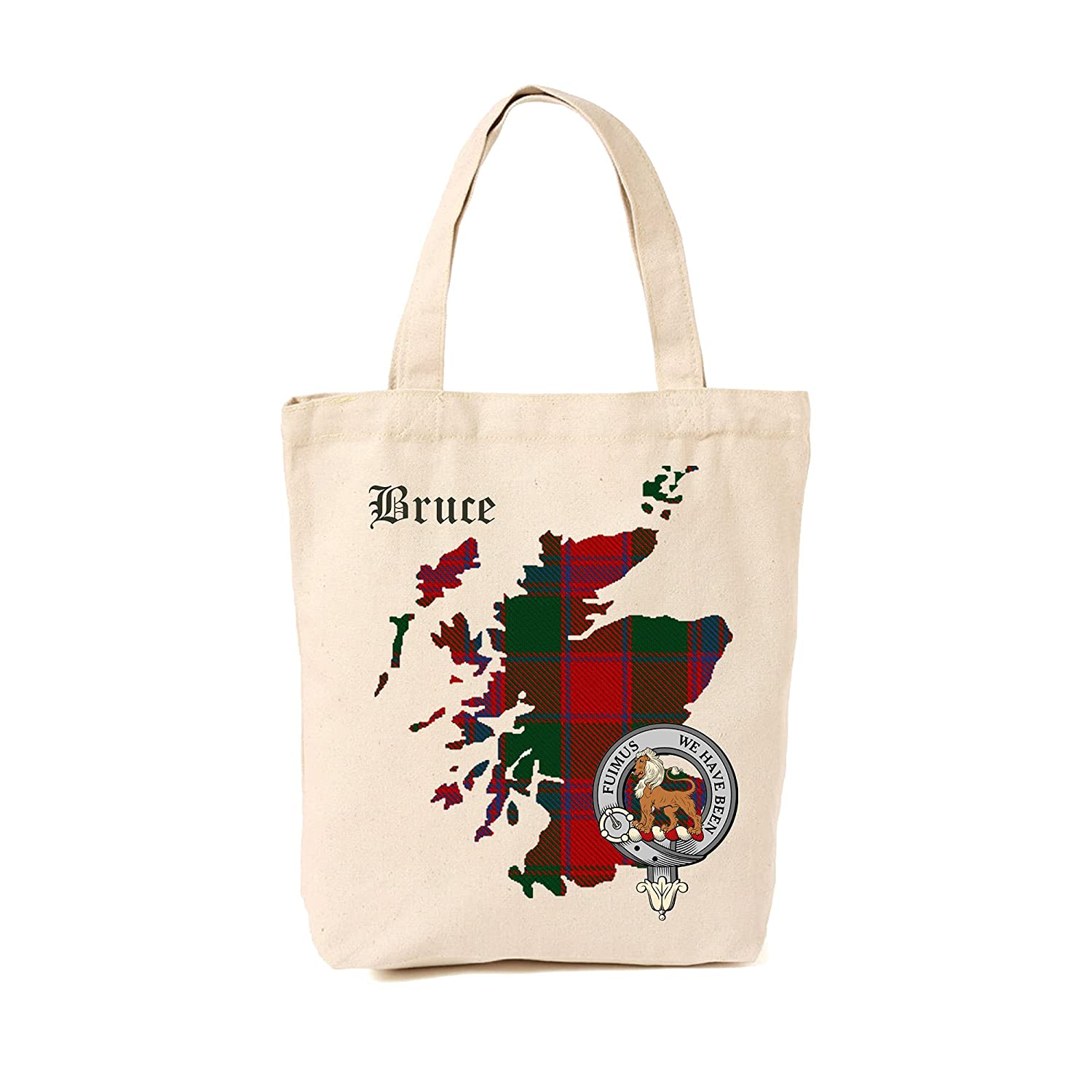 Bruce Scottish Clan Max 54% OFF Selling and selling Tote Bag with Crest Tartan