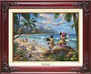 Disney ディズニー/トーマス・キンケード「ミッキー&ミニー/イン・ハワイb」 作品証明書・展示用フック付キャンバスジークレ 【並行輸入品】