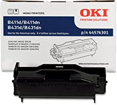 Okidata 44574301 Image Drum for B411/B431 Series Printers, 20000 Page Yield, Black