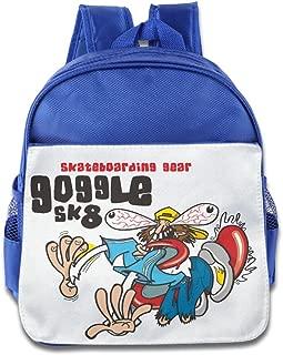 XJBD Custom Cool Skate Boarding Kids Children School Bag For 1-6 Years Old RoyalBlue