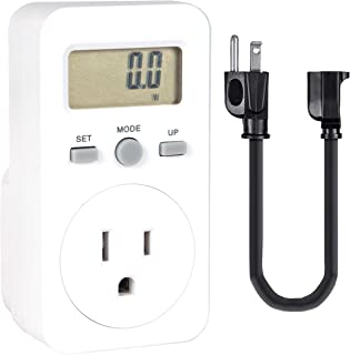 Micro Watt Meter - Single Pack - Simple and Compact Power Meter - Easily Monitor Electricity Usage