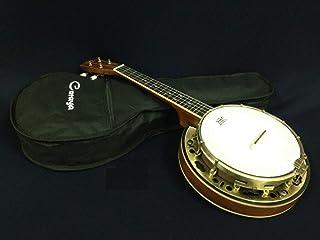 Caraya SBJUK-118 Banjo Ukulele/Banjolele w/Flame Maple Resonator + Free Soft Case