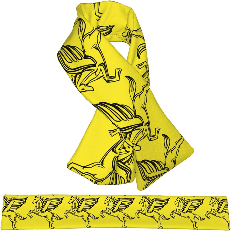 Winter Scarfs Pegasus Scarves Wraps Neck Warmer Flannel Winter Cross Tie Scarves