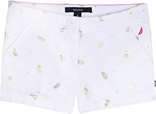 Nautica Little Girl's Pull On Shorts, White, 4