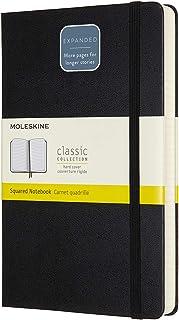 モレスキン クラシック ノートブック エクスパンデッド(400ページ) ハードカバー ラージサイズ ブラック 方眼 QP061EXP