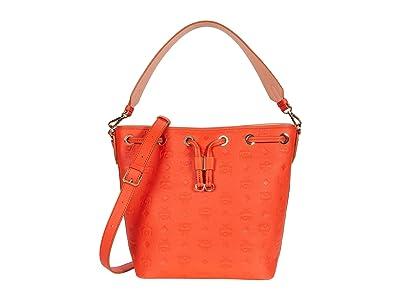 MCM Essential Monogrammed Leather Drawstring Small (Fiesta) Handbags