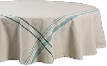 DII 100% Cotton Machine Washable, Everyday French Kitchen Tablecloth For Dinner Parties, Summer & Outdoor Picnics-70 Seats...