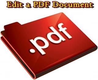 Edit a PDF Document