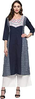 Bhama Couture Women's Cotton Straight Salwar Suit Set