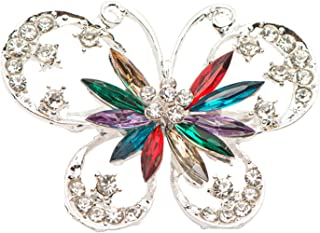 Cleocean Five Color Crystal Women broches jewelry Butterfly Brooch Pin