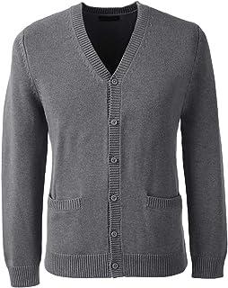 School Uniform Men's Cotton Modal Button Front Cardigan...