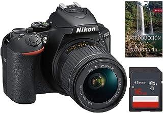 Cámara Nikon D5600 AF-S DX 18-55mm f/3.5-5.6G ED VR + Tarje