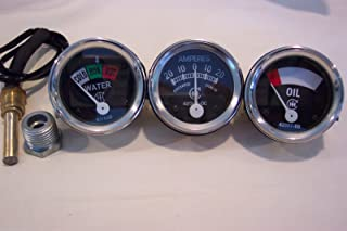 IH Farmall Tractor 300 350 Gas/Utility Temp+Oil+ Ampere Gauges for DC H M W S+