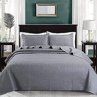 RANRANHOME Sängöverkast påslakanset dubbelstorlek, mjukt mikrofiber lätt täckeset, 3-delat sängöverkast överkast 230 x 250...