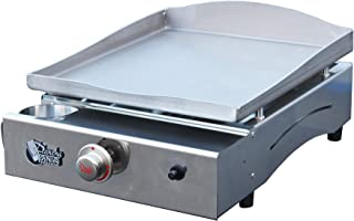 Plancha Tonio - Plancha LAGOA 2 à 6 personnes - Gaz butane propane - Plaque de cuisson inox – Caisson Tout Inox – 2600 W -...