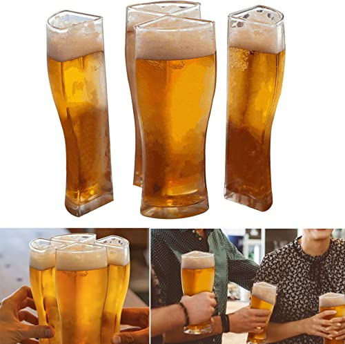 popular Beer Glasses, Classic sale Tulip Beer Cups, Drinking Juice Glass, Pub Style Design for Home Dinning, Bars, and Parties, Clear Acrylic Glasses,4-in-1, Super sale Schooner Designed sale
