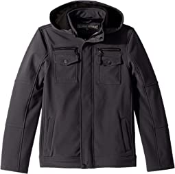 Karl Softshell Officers Jacket w/ Zip Off Hood (Little Kids/Big Kids)