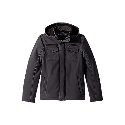 Urban Republic Kids Karl Softshell Officers Jacket w/ Zip Off Hood (Little Kids/Big Kids) (Pewter) Boy