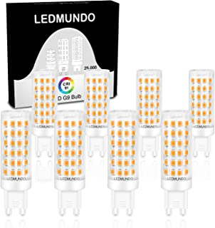 Dimmable 5.5W G9 LED Bulb - 91 Ra, no Flickering, High CRI 8 Pack, 60-Watt Halogen Equivalent, 580 Lumens, Dimmable LED Bulbs, ETL Listed, Warm White 3000K, Omnidirectional Lighting