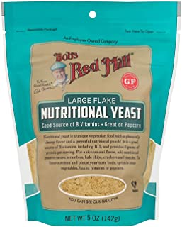 Bob's Red Mill Gluten Free Large Flake Nutritional Yeast 5 Ounce (Pack of 6)