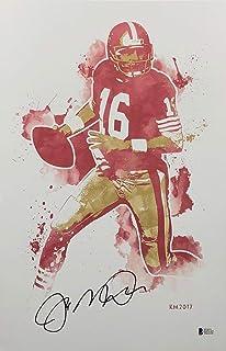 Joe Montana Signed San Francisco 49ers 11x17 Art Print  SB MVP  HOF BAS  E07152 18c41ceeb