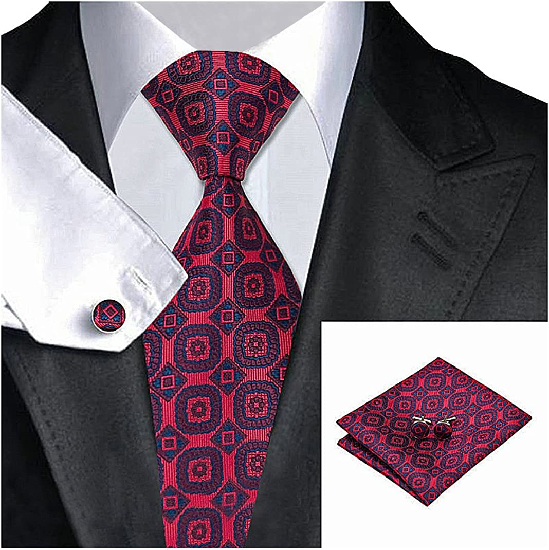 Celino Men Eclectic Patterns Casual & Classy Colorful Silk Neckties & Hankies