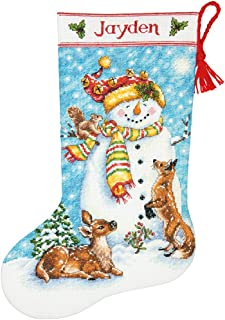 Dimensions Needlecrafts Counted Cross Stitch 'Winter Friends' Personalized Christmas Stocking Kit, 16