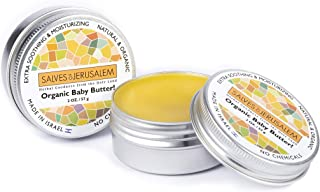 Organic Baby Diaper Rash Butter- Skin Irritation Relief and Soothing Action- Natural, Daily Newborn Treatment with Essential Oils- Lavender, Tea Tree, Coconut, Olive Oil