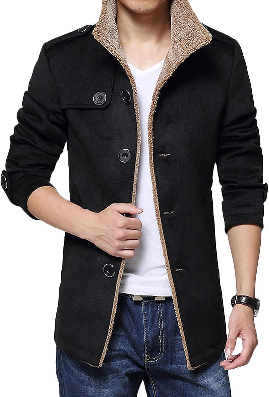 Youhan Men's Winter Fleece Windproof Outwear Jacket