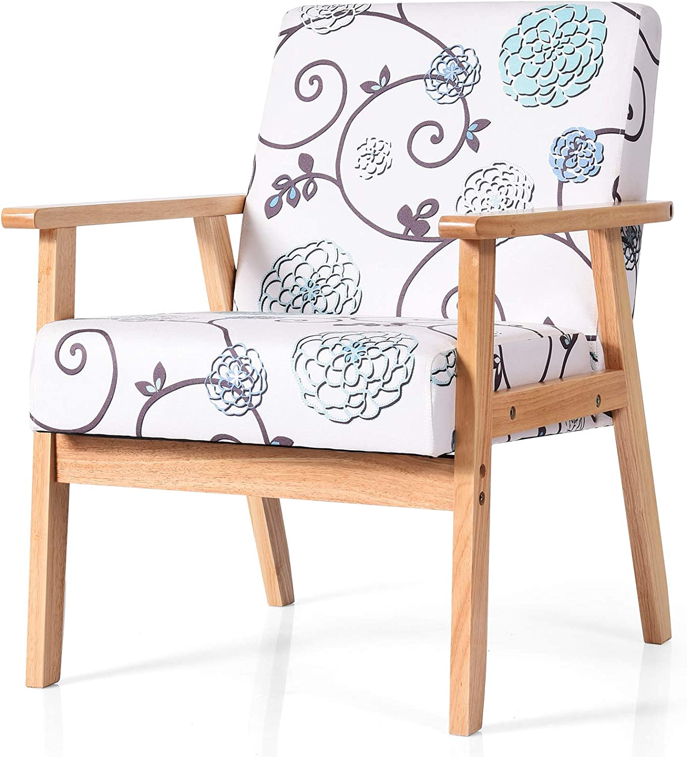 POWERSTONE Modern Accent Chair Upholst - Excellent Arm Fabric Many popular brands