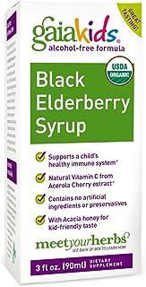 Gaia Herbs, Kids, Black Elderberry Syrup, Alcohol-Free Formula, 3 fl oz (90 ml) - 2pc
