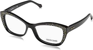 Roberto Cavali CAPRESE RC5037 - A01 ACETATE EYEGLASS FRAME SHINY BLACK 54MM