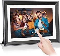32GB WLAN Digitaler Bilderrahmen 10 Zoll, Rokurokuroku Elektronischer Bilderrahmen IPS Touchscreen, Unbegrenzte Übertragun...