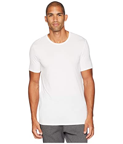 Jockey Essential Fit Supersoft Modal Crew Neck T-Shirt (White) Men