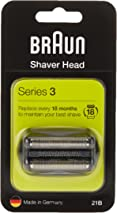 Braun Series 3 21B Electric Shaver Head Replacement - Black - Compatible with Series 3 Shavers