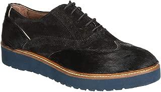 LEONARDO SHOES Luxury Fashion Womens 2997 Black Lace-Up Shoes | Season Permanent