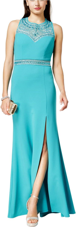 B. Darlin Womens Rhinestone Gown Dress