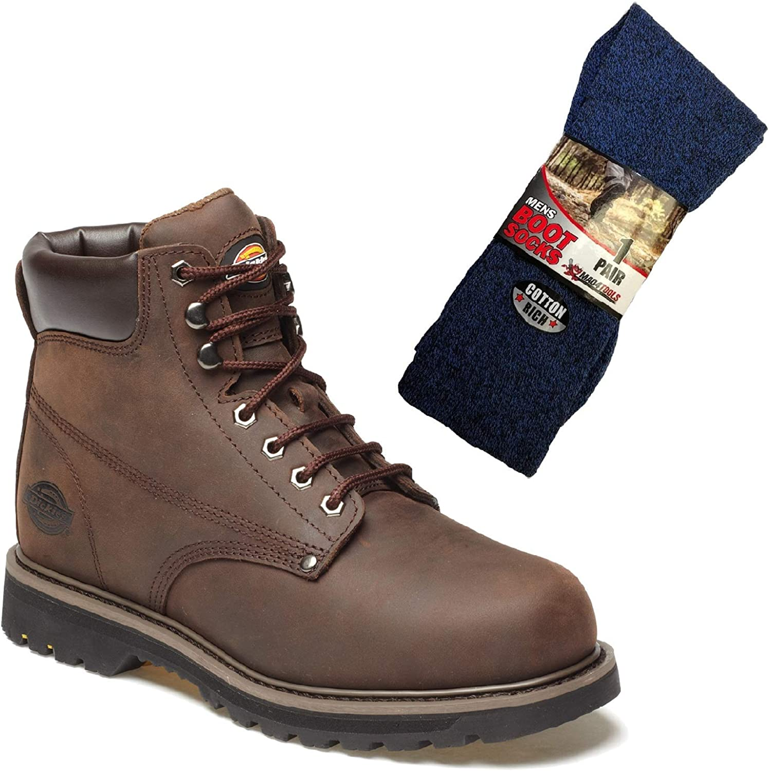 6863895bc7d Dickies Welton Non-Safety Work Boots and Boot Socks nqsphv2465-New ...