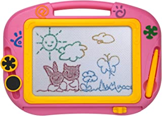 ikidsislands IKS88P [Travel Size] Color Magnetic Drawing Board for Kids & Toddlers - Non Toxic Mini Magna Sketch Doodle Ed...