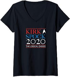 Femme Star Trek: The Original Series Kirk & Spock 2020 T-Shirt avec Col en V