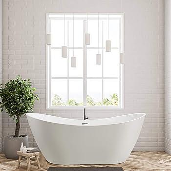Vanity Art 70'' Acrylic Freestanding Tub