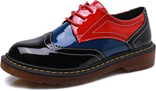 Smilun Lady¡¯s Full Brogue Derby Shoes Assorted Colours Classic Flats Shoes