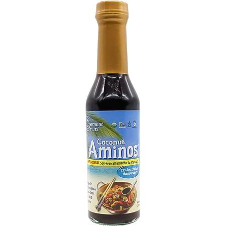 Coconut Secret, Raw Coconut Aminos, Soy-Free Seasoning Sauce, 8 fl oz (237 ml)