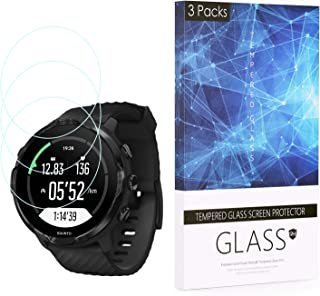 BECROWM 3 Packs Tempered Glass Screen Protector 9H Hardness Protective Glass Compatible with Suunto 7,2.5D Full Coverage H...