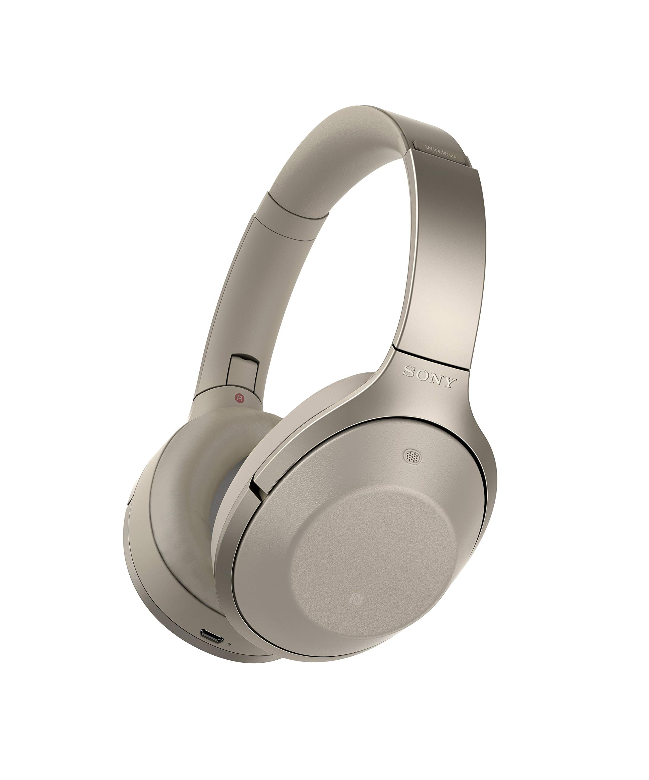 Amazon Com Sony Premium Noise Cancelling Bluetooth Headphone Grey Beige Mdr1000x C 2016 Model Electronics