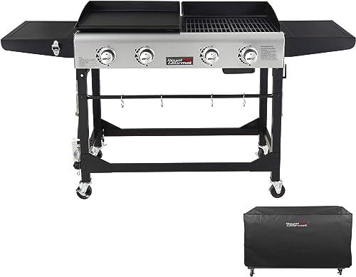 Royal-Gourmet-GD401C-4-Burner-Portable-Propane-Flat-Top-Gas-Grill