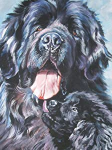 Classic Jigsaw Puzzle 1000 Piece Adult Children Puzzle Wooden Puzzle DIY Cute and Rich Newfoundland Dog Modern Home Decor Festival Gift Intellectual Game Wall Art 75x50cm